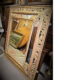 Large 19th century gilt framed mirror