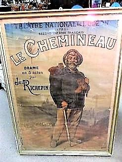 Large antique french advertising poster