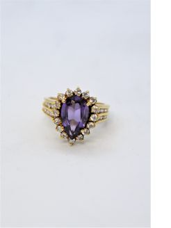 14ct gold amethyst ring