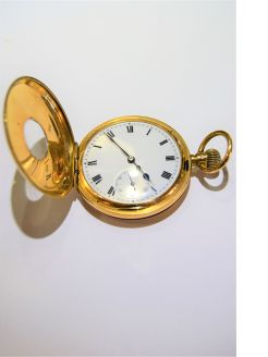 18ct gold omega pocket watch