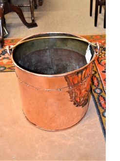 Victorian copper coal scuttle / bucket