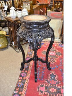 19th century chinese cherrywood pedestal