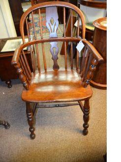 19th century oak windsor armchair