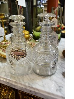 Pair Victorian decanters