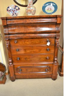 Large Victorian mahogany chest