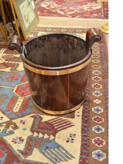 Georgian mahogany turf bucket