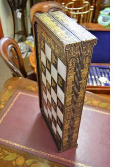 Chinese lacquered games board with MOP