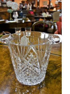 Cut glass ice bucket