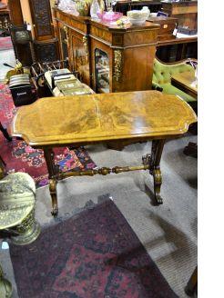 Victorian burr-walnut side table