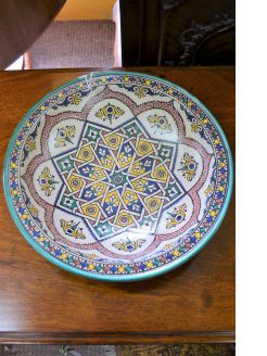 Moorish painted bowl