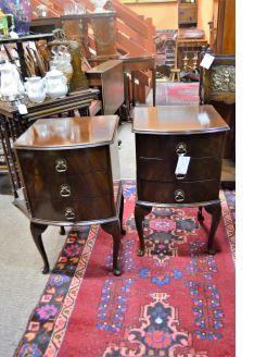Pair mahogany pedestals