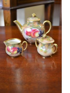 Royal Worcester trio