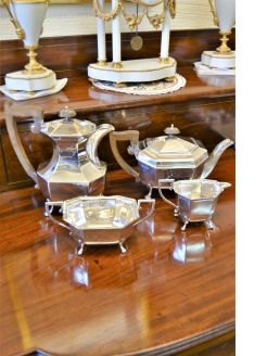 4 piece silver tea-set