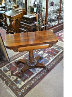 19th century rosewood tea-table