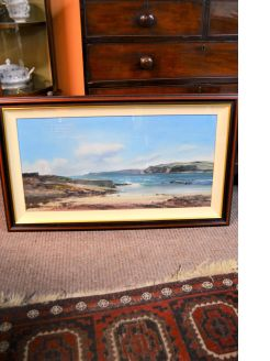 Framed oil painting, local artist