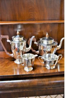 Art deco four piece silver tea set