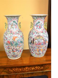 Pair of 19th century Chinese vases
