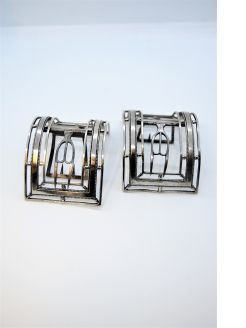 Pair of Irish silver buckles, Dublin
