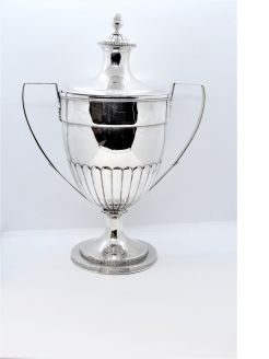 Georgian silver cup & cover