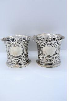 Pair of Irish silver pots