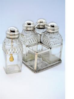 Georgian silver cruet set