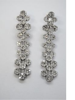Pair 18ct gold & diamond earrings
