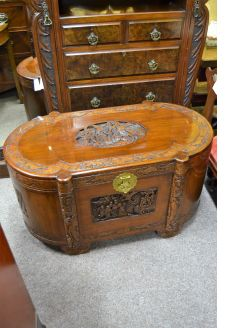 Chinese camphour wood trunk