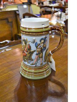 Mettlach pottery  jug / tankard