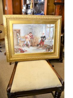 A beautiful gilt framed watercolour signed A.C.GOW ,A.R.A