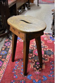 Old oak stool