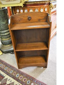 Oak floor bookcase