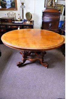 19th century pollard oak centre table