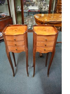 Pair French Kingwood pedestals