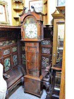 19th century cased grandfather clock