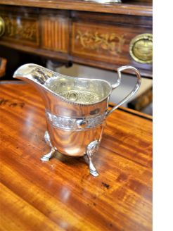 Irish silver jug