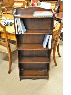 1920s  oak floor bookcase