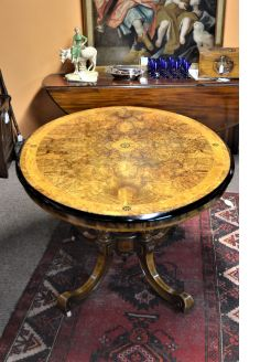 Victorian burr -walnut table