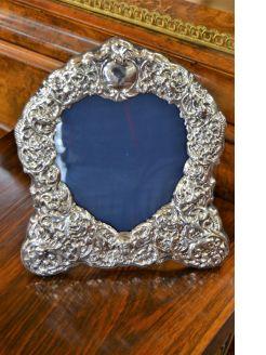 Large silver frame
