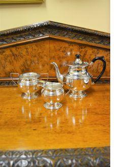 Three piece silver tea-set