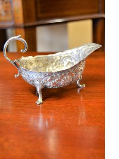 Silver sauce boat