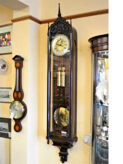 Late biedermeier gothic style striking vienna clock