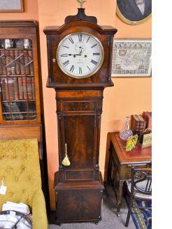 19th century mahogany cased grandfather clock