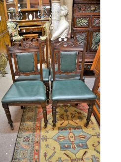 Set of four late Victorian chairs
