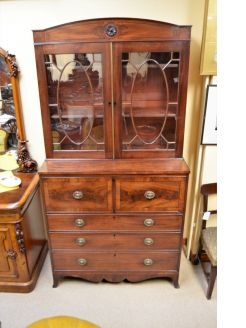 Georgian mahogany secretaire/bookcase