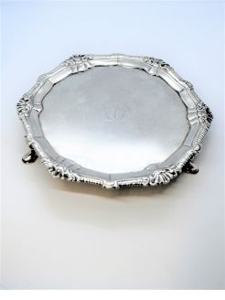 18th Century Irish silver salver