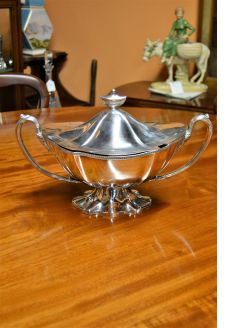 Plated soup tureen