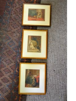 Set of three engravings