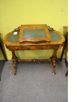 Victorian burr-walnut desk