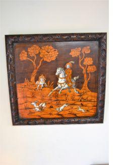 18th century wooden panel