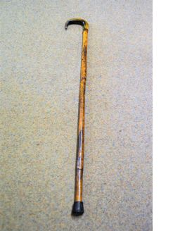 18ct gold mounted walking stick